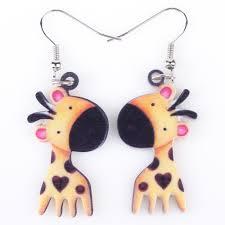 giraffe earrings giraffe earrings for and