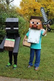 minecraft steve costume chic diy minecraft steve and enderman costume 2014