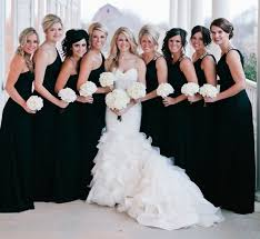 black bridesmaid dresses bridesmaids in black or just