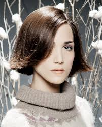 flipped up hairstyles preppy chin length bob with flipped up ends