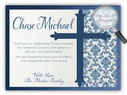 baptism thank you wording boy baptism thank you cards di 814ty harrison greetings