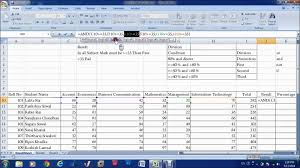 Microsoft Excel Worksheet Ms Excel Chapter 4 In Nepali Result Sheet With If And Function