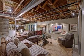 Partially Finished Basement Ideas Inspirating Of Interior Mind Low Ceiling Basement Ideas And