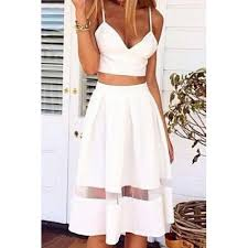 high waisted skirt spagahetti sleeveless solid color tank top high