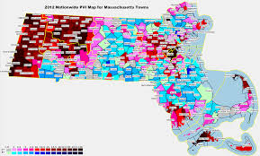 Massachusetts Town Map by 2012 National And State Pvi Bellwether Counties For All 50 States