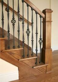 Banisters And Handrails Heide Stair After Wood Balusters Iron And Woods