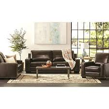 Armchair Set Brighton Hand Rubbed Top Grain Leather Sofa Loveseat And Armchair