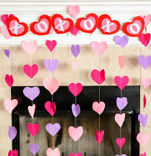 Christmas Crepe Paper Decorations by How To Make Paper Heart Christmas Decorations My Own Little World