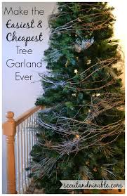 the easiest tree garland