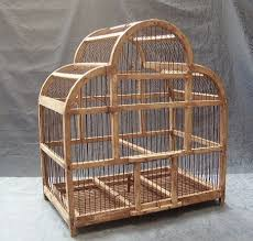 uccelli in gabbia wooden three foiled cusped arch birdcage