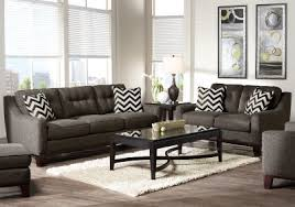Sofa Bed Rooms To Go by Cindy Crawford Home Hadly Gray 8 Pc Living Room Living Room Sets
