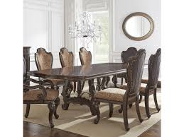 double pedestal dining room table angelina double pedestal dining table with metal stretcher