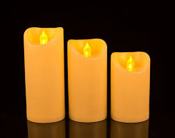flickering flameless candle lights led pillar electric candles