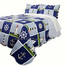 Nautical Bedspreads Nautical Quilts Quilt And Bedspreads Lighthouse Bedding Queen