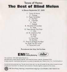 Rain Blind Melon Blind Melon Tones Of Home The Best Of Blind Melon Us Promo Cd R