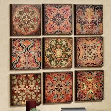 Tapestry On Bedroom Wall Tuscan 9 Pc Wall Panel Set