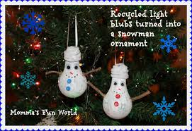 momma s world recycled light bulb turned into a snowman