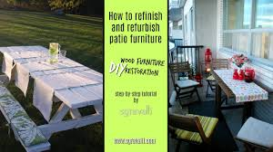 Patio Furniture Refinishers How To Refinish And Refurbish Patio Furniture Diy Wood Furniture