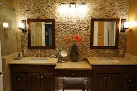 bathroom accent wall ideas mocha onyx splitface accent wall traditional bathroom