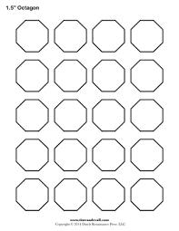 free printable octagon templates blank octagon shape pdfs