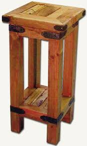 small wood end table small end table with inlaid cactus wood furniture handmade in chile