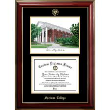college diploma frames spelman college classic cus image and diploma frame diploma