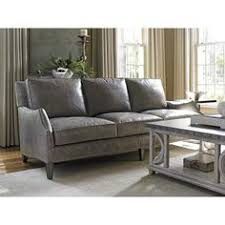 Gray Nailhead Sofa Lazboy Talbot Sofa In Gray Leather With Nailhead Trim Accent Www