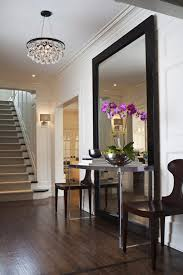 ideas for entryway design ideas entryway with a long dark table and matching mirror