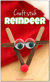 craft stick reindeer christmas craft christmas trees craft