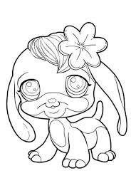 pet shop cute dog flower coloring pages batch coloring