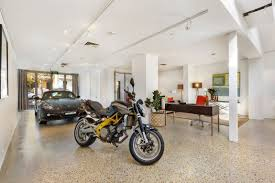 garage morphs into interior of row home