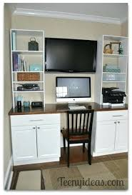 Diy Built In Desk Kitchen Cabinet Desk Diy Built In Using Cabinets After Cutting