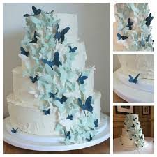 butterfly wedding cake blue butterfly wedding cake cakecentral
