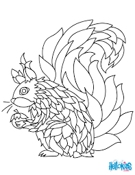 squirrel mandala coloring pages hellokids com