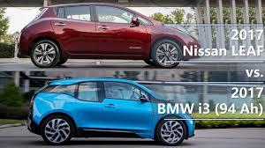 nissan leaf vs tesla 3 2017 nissan leaf vs 2017 bmw i3 comparison youtube