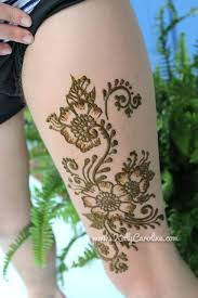 henna on thigh caroline