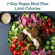 7 day vegan meal plan 1 200 calories eatingwell