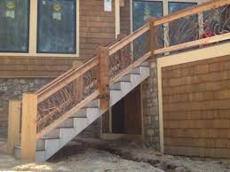 rustic handrails for the home options and materials for railings