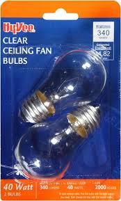 Ceiling Fan Light Bulb Hy Vee Clear 40w Ceiling Fan Light Bulbs Hy Vee Aisles Online