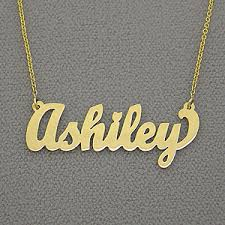 Custom Name Necklace Gold Name Necklaces Customized In Gold Personalized Name Jewelry