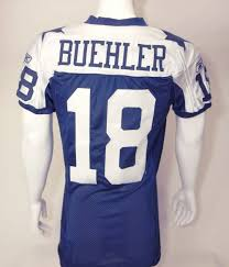 lot detail david buehler dallas cowboys used jersey vs new