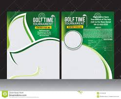 ai brochure templates free download inspirational golf flyer