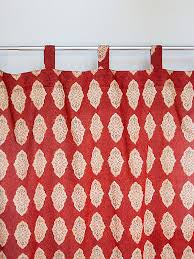 Tab Top Sheer Curtain Panels India Curtain Moroccan Red Orange Saffron Marigold