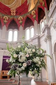 classic romantic brown green altar arch arrangements decor