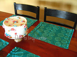 tablecloth turned placemats ode to inspiration