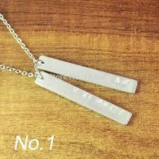 custom necklace pendants 35 best custom bar necklace images on pendant necklace