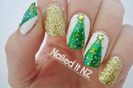nailed it nz easy christmas tree nail art tutorial 12 days of