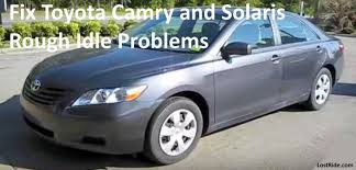 toyota problems how to fix toyota camry and solaris idle problems after