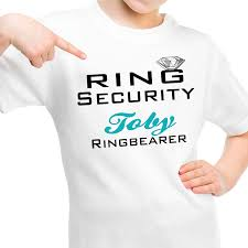 ring security wedding personalised childrens ring security ring bearer page boy