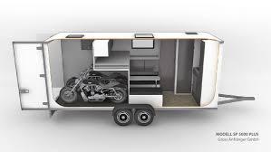 travel trailer with garage caravan with garage for motocross superbike kart motorsports